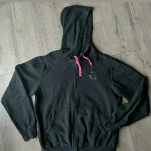 Etnies Black Light Hoodie Sheckler Skater Pink L